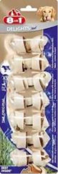 8IN1 Delight Bones Biftekli Ağız Bakımı Kemik Köpek Ödül Xs
