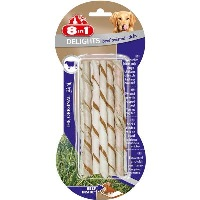 8IN1 Delight Bones Biftekli Twested Sticks Köpek Ödül 10 Lu