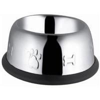 ASBE Köpek Oval Desenli Çelik Mama Kabı 96Oz 0,25 CM