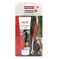 BEAPHAR Köpek Diş Fırçası ve Diş Macunu Seti