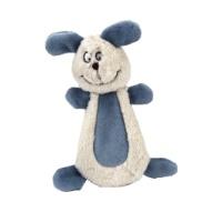 BEEZTEES Bonzy Kumaş Köpek Oyuncak Beyaz/Mavi 15 CM