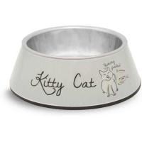 BEEZTEES Melamin Kıtty Cat Mama Kabı Bej 160 ML