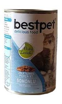 BEST PET Somon Etli Yetişkin Kedi Konserve 415 GR