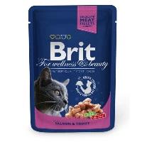 BRIT Premium Somon ve Alabalıklı Pouch Kedi Konserve 100 GR