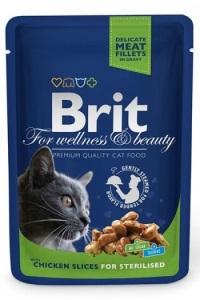 BRIT Premium Kışırlastırılmış Tavuklu Pouch Kedi Konserve 100 GR