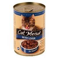 CAT MENUE Ciğerli Kedi Konserve 415 GR