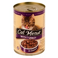 CAT MENUE Hindili Kedi Konserve 415 GR