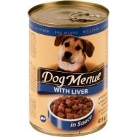 DOG MENUE Ciğerli Köpek Konserve 415 GR