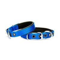 DOGGIE Comfort Dokuma Sade Boyun Tasması Mavi M 1,5x35 CM
