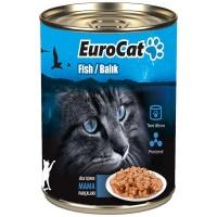 EURO CAT Balıklı Kedi Konserve 415 GR