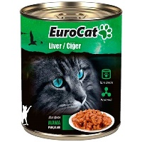 EURO CAT Cigerli Kedi Konserve 415 GR