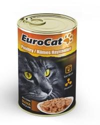 EURO CAT Kümes Hayvanlı Kedi Konserve 415 GR