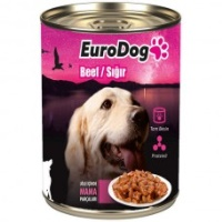 EURO DOG Biftekli Köpek Konserve 415 GR