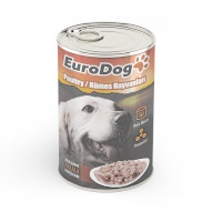 EURO DOG Kümes Hayvanlı Köpek Konerve 415 GR