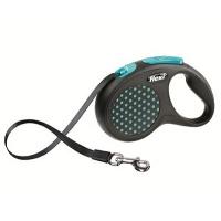 FLEXI Design Otomatik Şerit Köpek Gezdirme Tasma M Mavi 5 MT