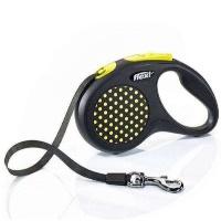 FLEXI Design Otomatik Şerit Köpek Gezdirme Tasma M Sarı 5 MT