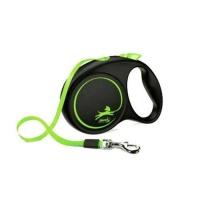 FLEXI Limited Edition Otomatik Şerit Köpek Gezdirme M Yeşil 5 MT