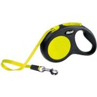 FLEXI Neon Otomatik Şerit Köpek Gezdirme Tasma S 5 MT