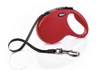 FLEXI New Classic Otomatik Şerit Gezdirme Tasma M Kırmızı 5 M