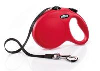 FLEXI New Classic Otomatik Şerit Gezdirme Tasma L Kırmızı 5 M