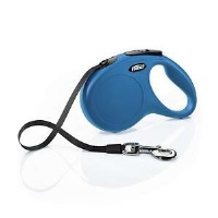 FLEXI New Classic Otomatik Şerit Köpek Gezdirme Tasma L Mavi
