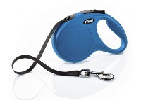 FLEXI New Classic Otomatik Şerit Köpek Gezdirme Tasma M Mavi 5MT