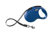 FLEXI New Classic Otomatik Şerit Köpek Gezdirme Tasma S Mavi 5 MT