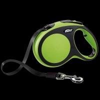 FLEXI New Comfort Otomatik Şerit Köpek Gezdirme Tasma L Yeşil 5 M