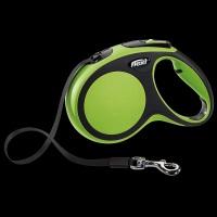FLEXI New Comfort Otomatik Şerit Köpek Gezdirme Tasma M Yeşil 5 M