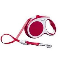 FLEXI Vario Otomatik Şerit Köpek Gezdirme Tasma M Kırmızı 5 MT