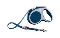 FLEXI Vario Otomatik Şerit Köpek Gezdirme Tasma M Mavi 5 MT