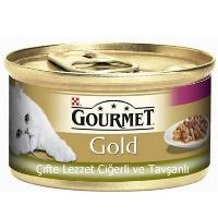 GOURMET Gold Ciğerli Tavşanli Kedi Konserve 85 GR