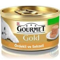 GOURMET Gold Kıyılmış Ördekli Sebzeli Kedi Konserve 85 GR