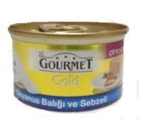 GOURMET Gold Okyanus Balığı ve Sebzeli Kedi Konserve 85 GR