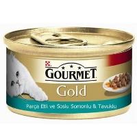 GOURMET Gold Parça Et Soslu Somon ve Tavuk Kedi Konserve 85 GR