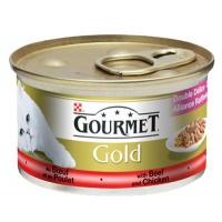 GOURMET Gold Parça Sığır Et Soslu Tavuklu Kedi Konserve 85 GR