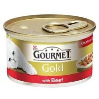 GOURMET Gold Parça Sığır Etli Kedi Konserve 85 GR