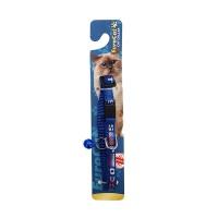 KAYA PET Kedi Boyun Tasması Bayrak Desen 10MMx28 CM Mavi Tek