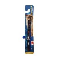 KAYA PET Kedi Boyun Tasması Çizgi Desen 10 MMx28 CM Mavi Tek