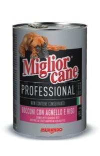MIGLIOR CANE Profosyonel Biftek ve Balık Köpek Konserve 405 GR