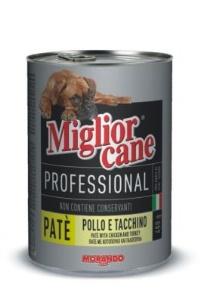 MIGLIOR CANE Profosyonel Tavuk&Hindi Pate Köpek Konserve 400 GR
