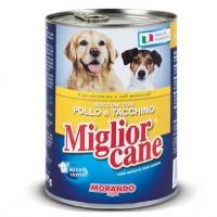 MIGLIOR CANE Tavuk&Hindi Köpek Konserve 405 GR