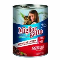 MIGLIOR GATTO Biftek Kedi Konserve 405 GR