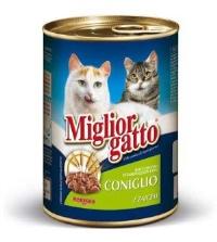 MIGLIOR GATTO Tavşan Kedi Konserve 405 GR