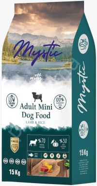 MYSTIC Az Tahıllı Orta Irk Yetişkin Kuzulu Köpek Maması 15 KG