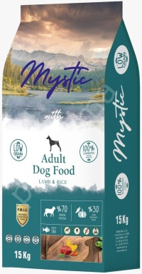 MYSTIC Az Tahıl Yetişkin Kuzu Köpek Maması 15 KG