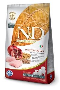 ND ANCESTRAL Dusuk Tahıl Tavuk&Nar Orta Irk Yavru Köpek Mama 2,5 KG