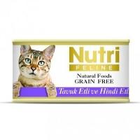 NUTRI FELINE Tahılsız Tavuk Etli ve Hindili Kedi Konserve 80 GR