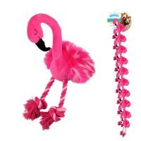 PAWISE Peluş Flamingo Köpek Oyucak S
