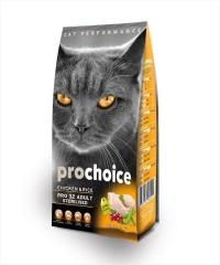 PROCHOICE Pro32  Tavuklu Yetişkin Kısır Kedi Maması 15 KG